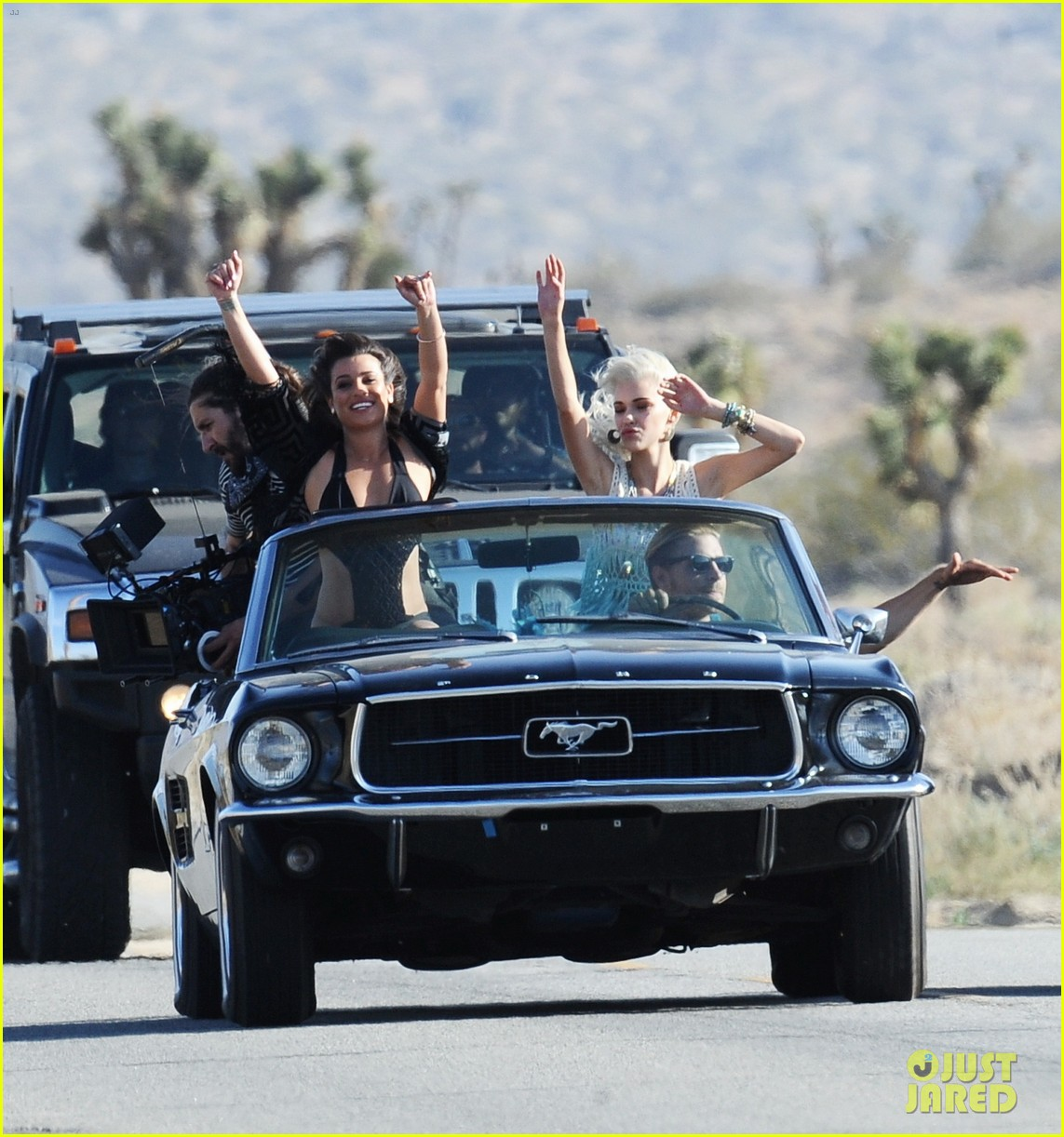 lea michele bikini on my way music video shoot 273095575