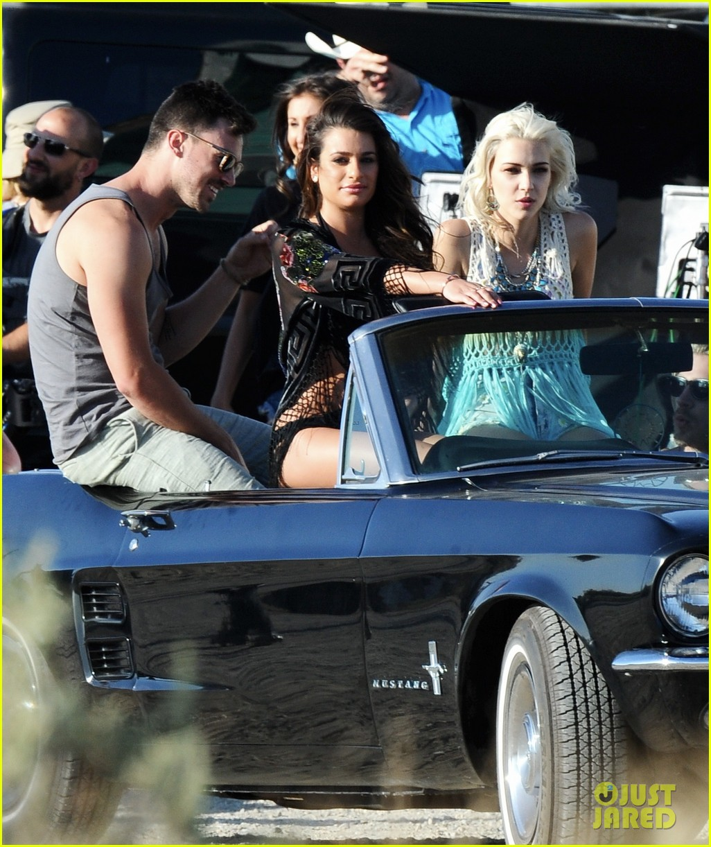 lea michele bikini on my way music video shoot 283095576