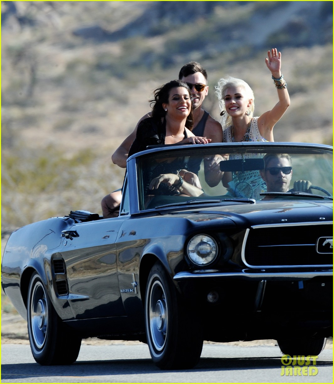 lea michele bikini on my way music video shoot 293095577