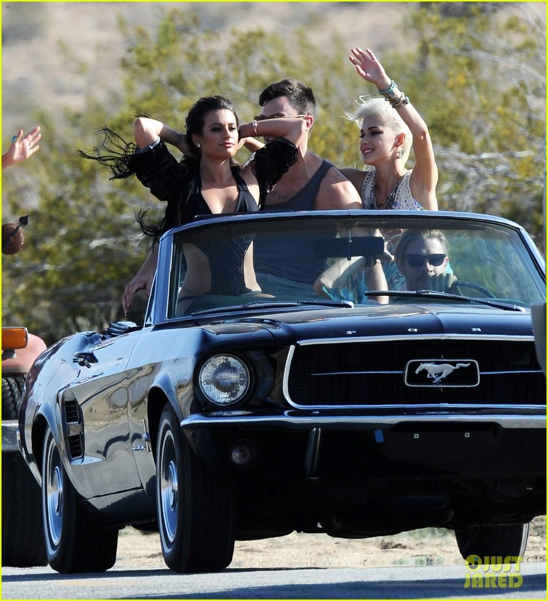 lea michele bikini on my way music video shoot 303095578