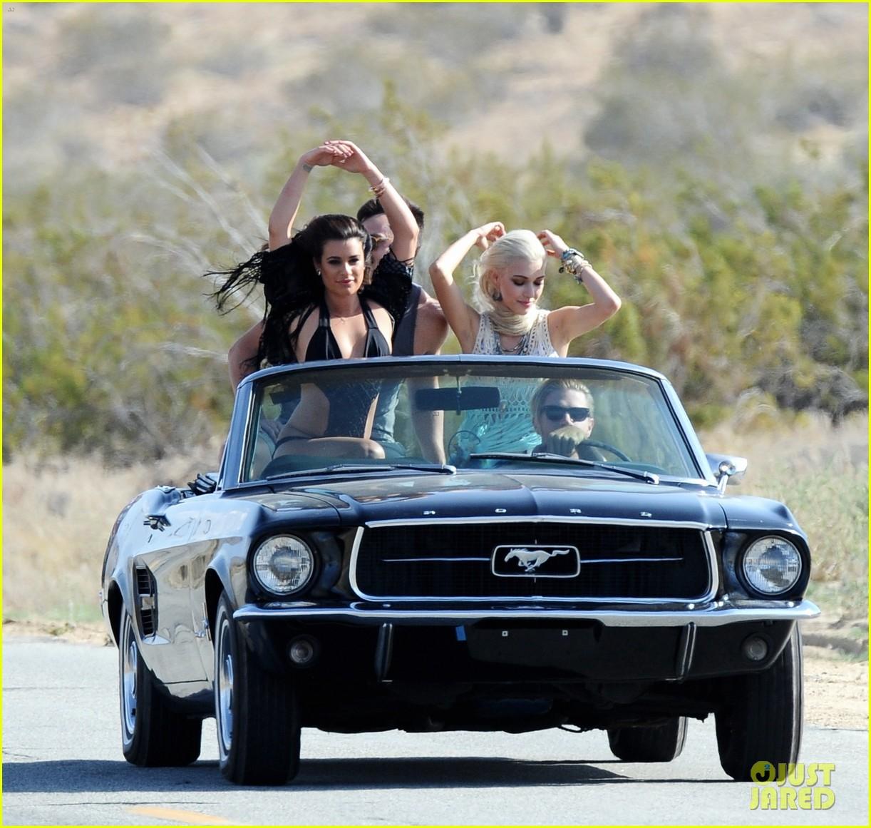 lea michele bikini on my way music video shoot 343095582