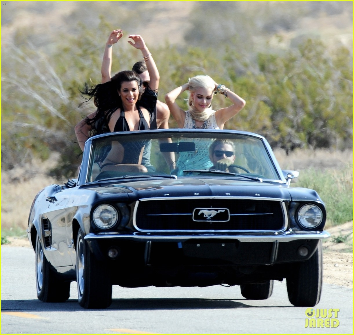 lea michele bikini on my way music video shoot 353095583