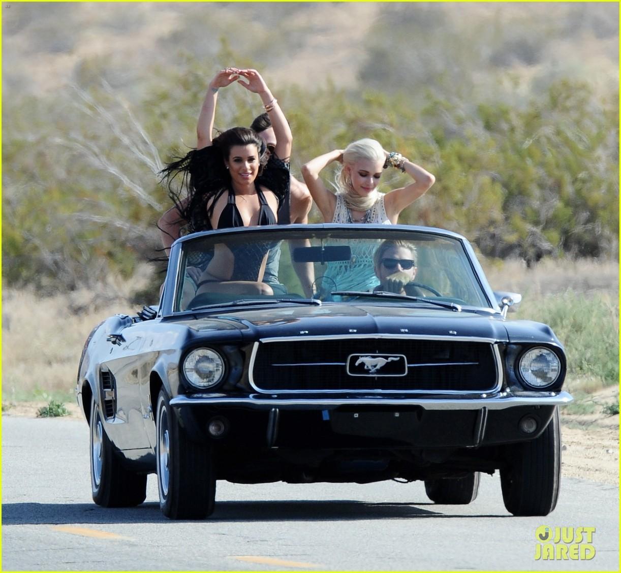 lea michele bikini on my way music video shoot 363095584