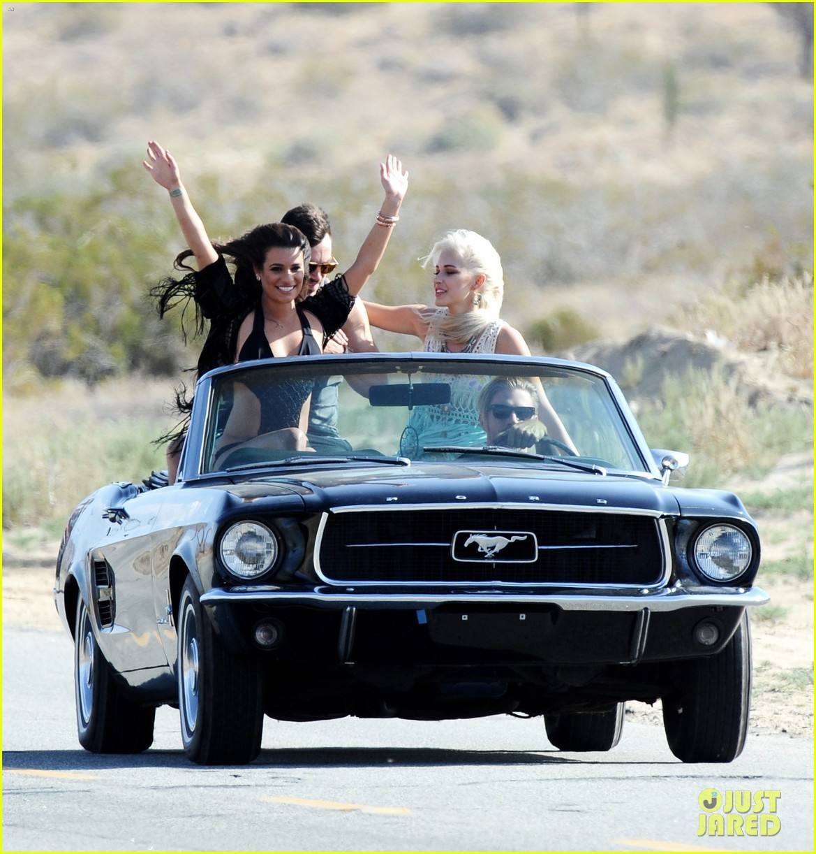 lea michele bikini on my way music video shoot 373095585
