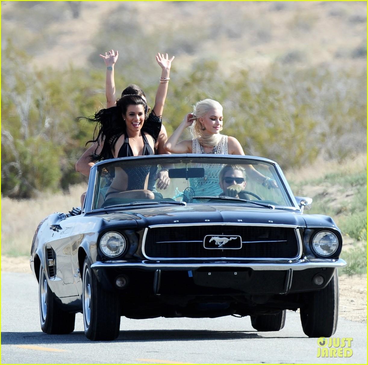 lea michele bikini on my way music video shoot 383095586