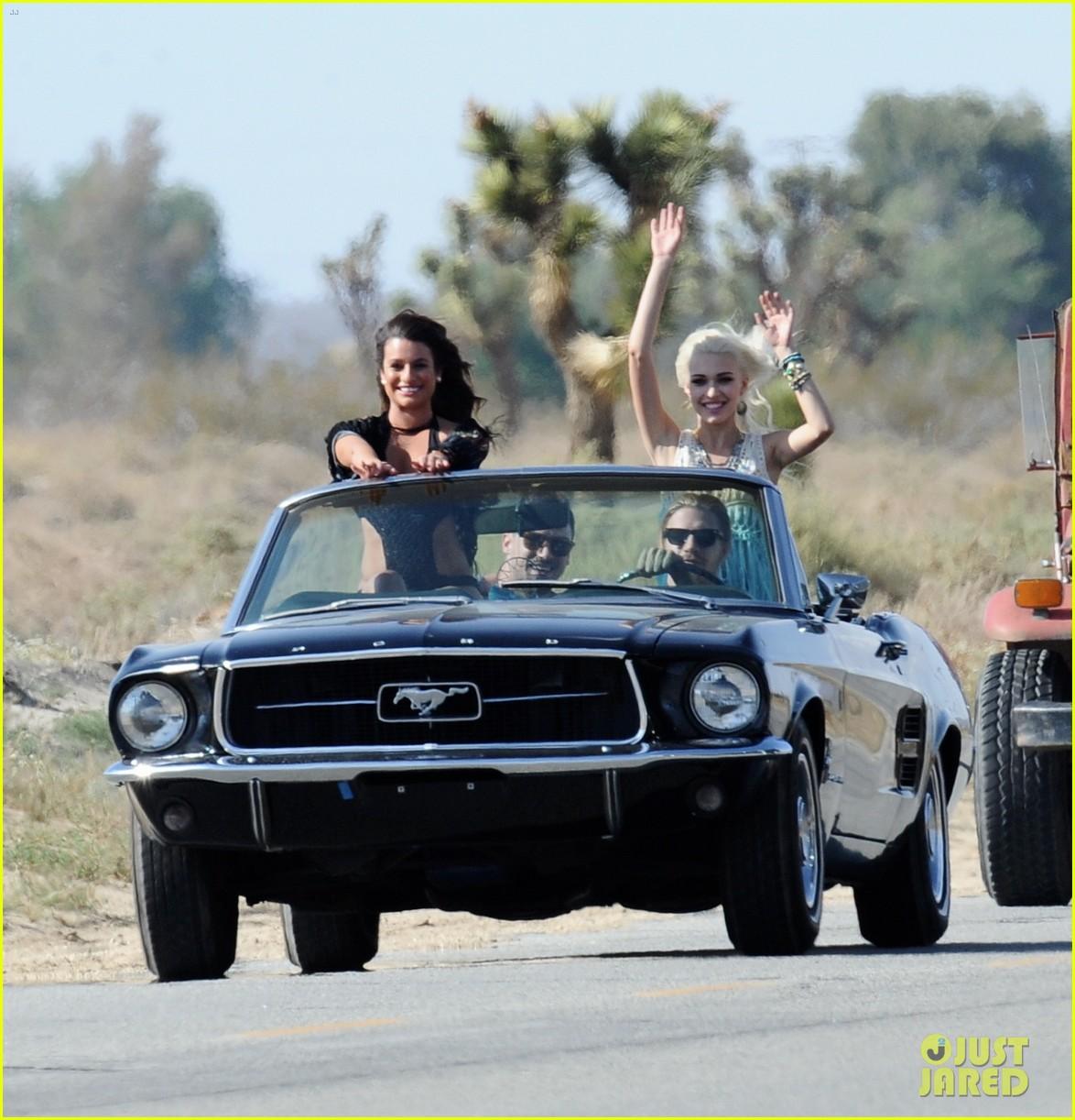 lea michele bikini on my way music video shoot 403095588