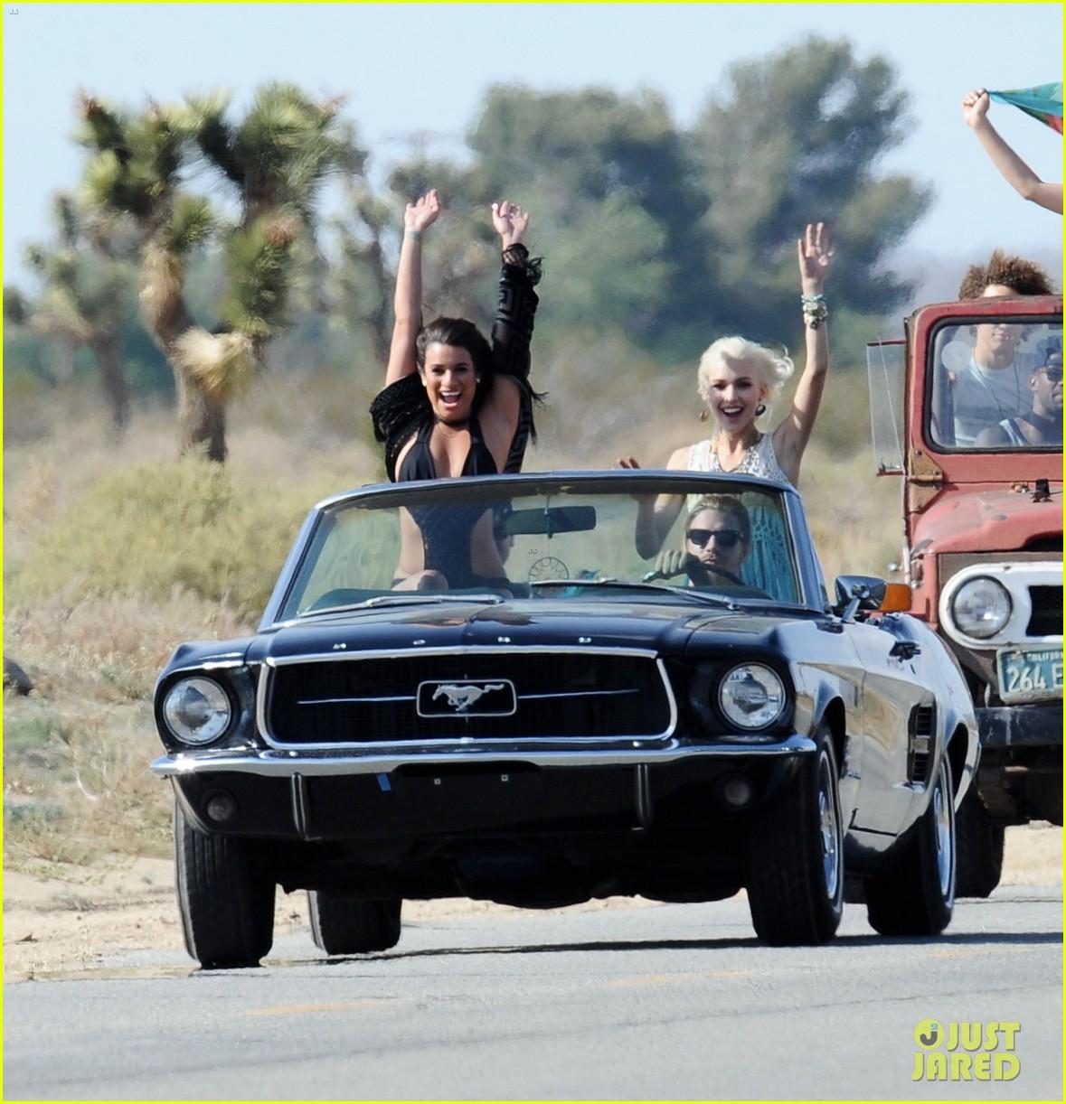 lea michele bikini on my way music video shoot 413095589