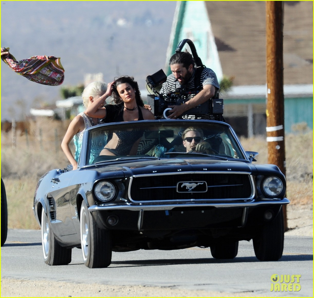 lea michele bikini on my way music video shoot 453095593