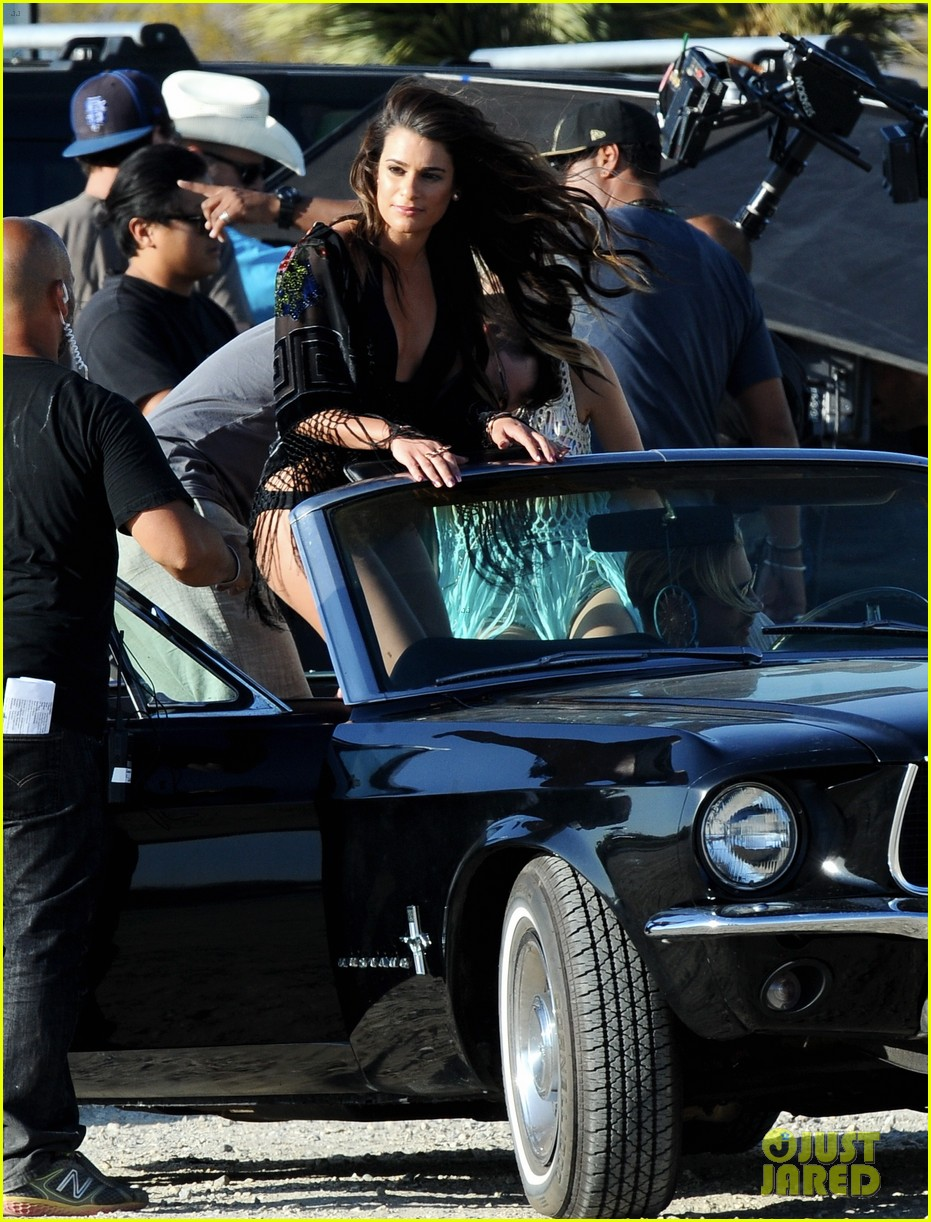 lea michele bikini on my way music video shoot 463095594