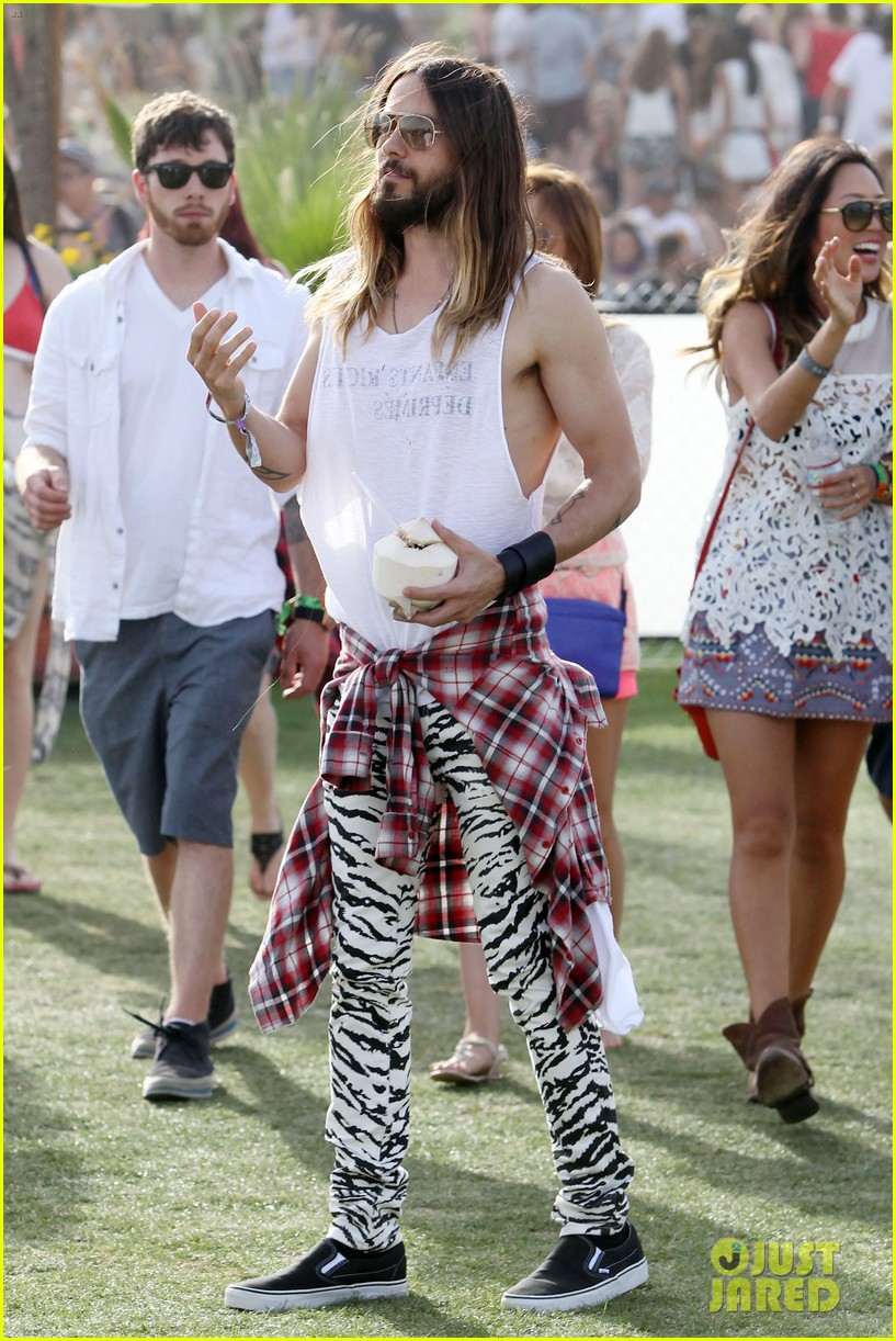 jared leto zebra print pants coachella day two 073090129