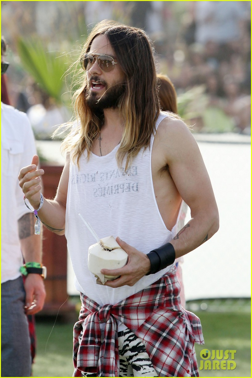 jared leto zebra print pants coachella day two 123090134
