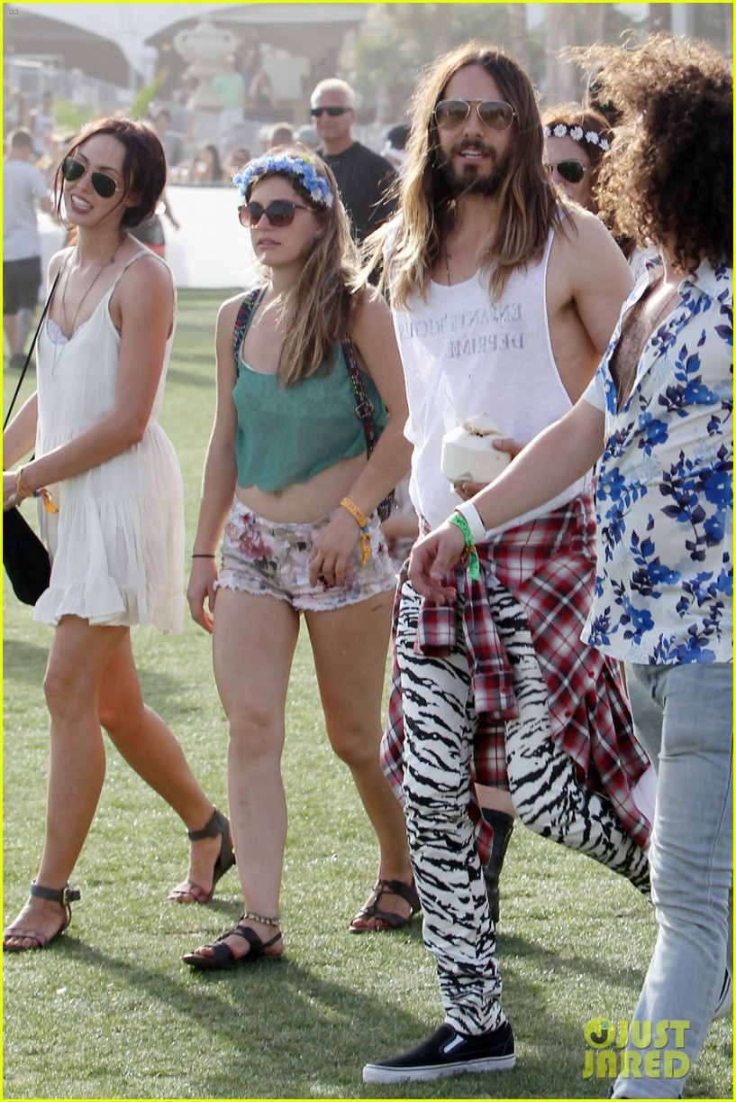jared leto zebra print pants coachella day two 183090140