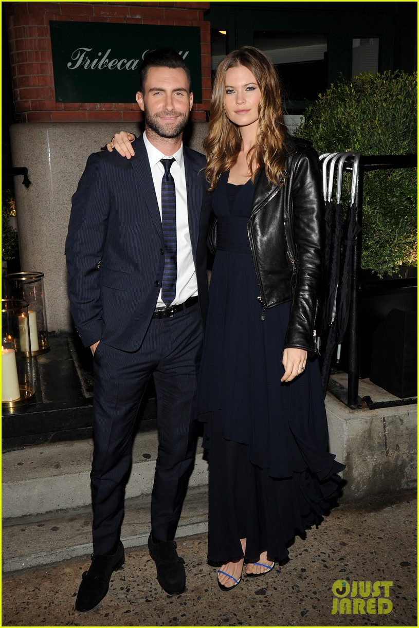 adam levine behati prinsloo party the night away at tribeca 013099954