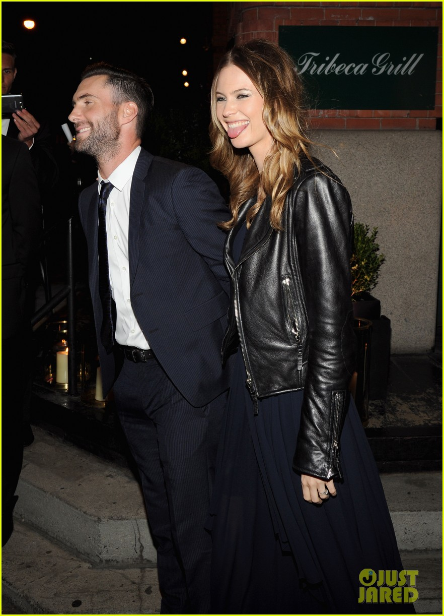 adam levine behati prinsloo party the night away at tribeca 033099956