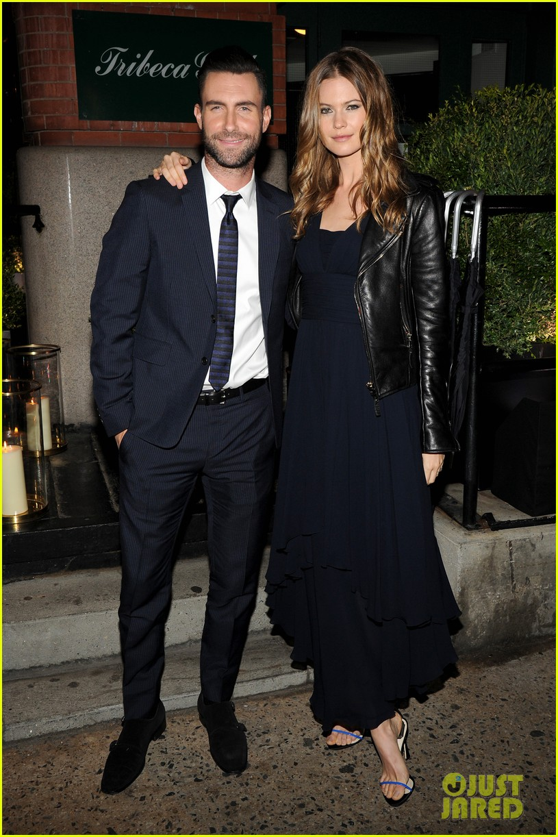 adam levine behati prinsloo party the night away at tribeca 063099959