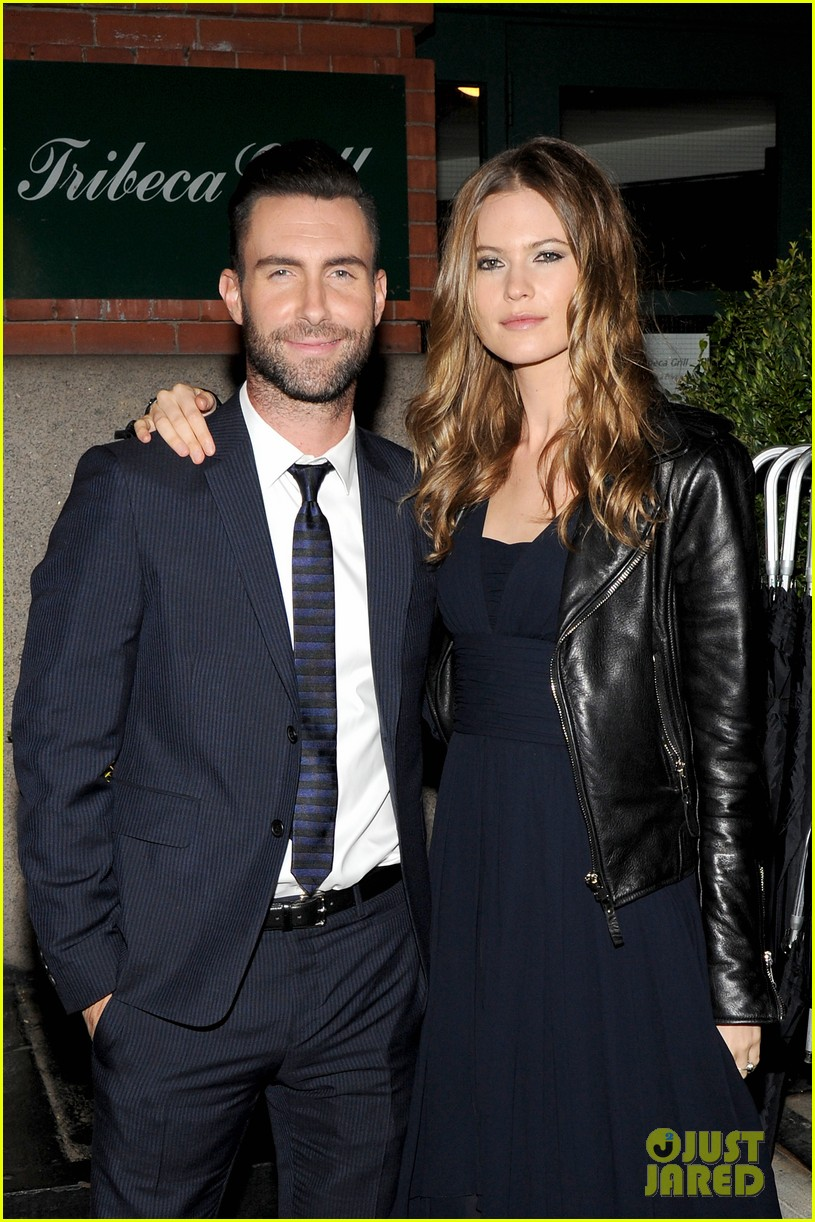adam levine behati prinsloo party the night away at tribeca 083099961