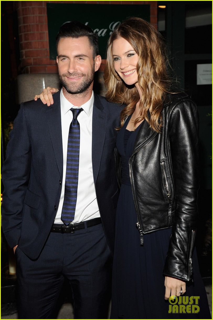 adam levine behati prinsloo party the night away at tribeca 093099962