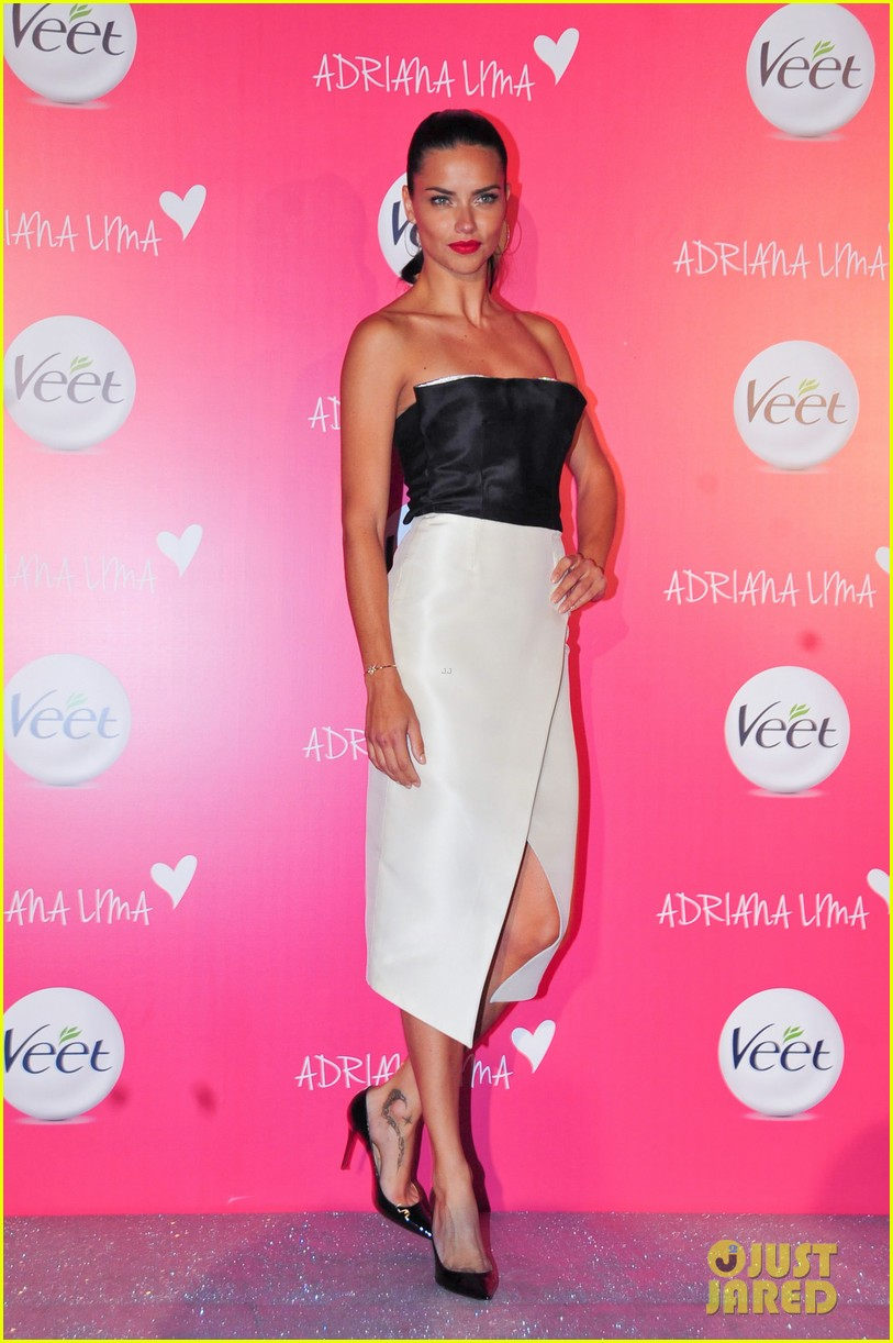 adriana lima drop dead gorgeous at veet launch 01