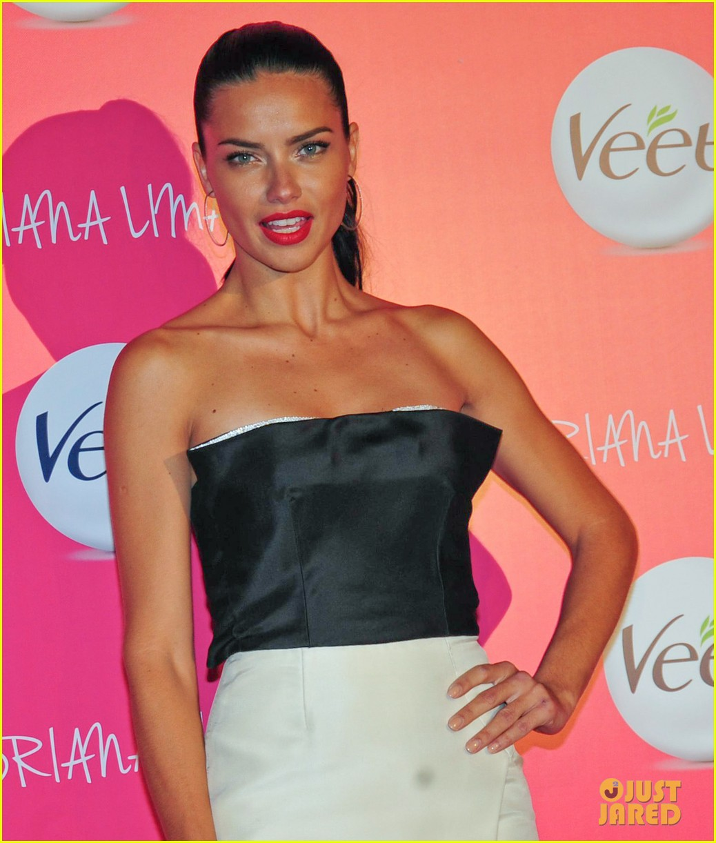 adriana lima drop dead gorgeous at veet launch 02