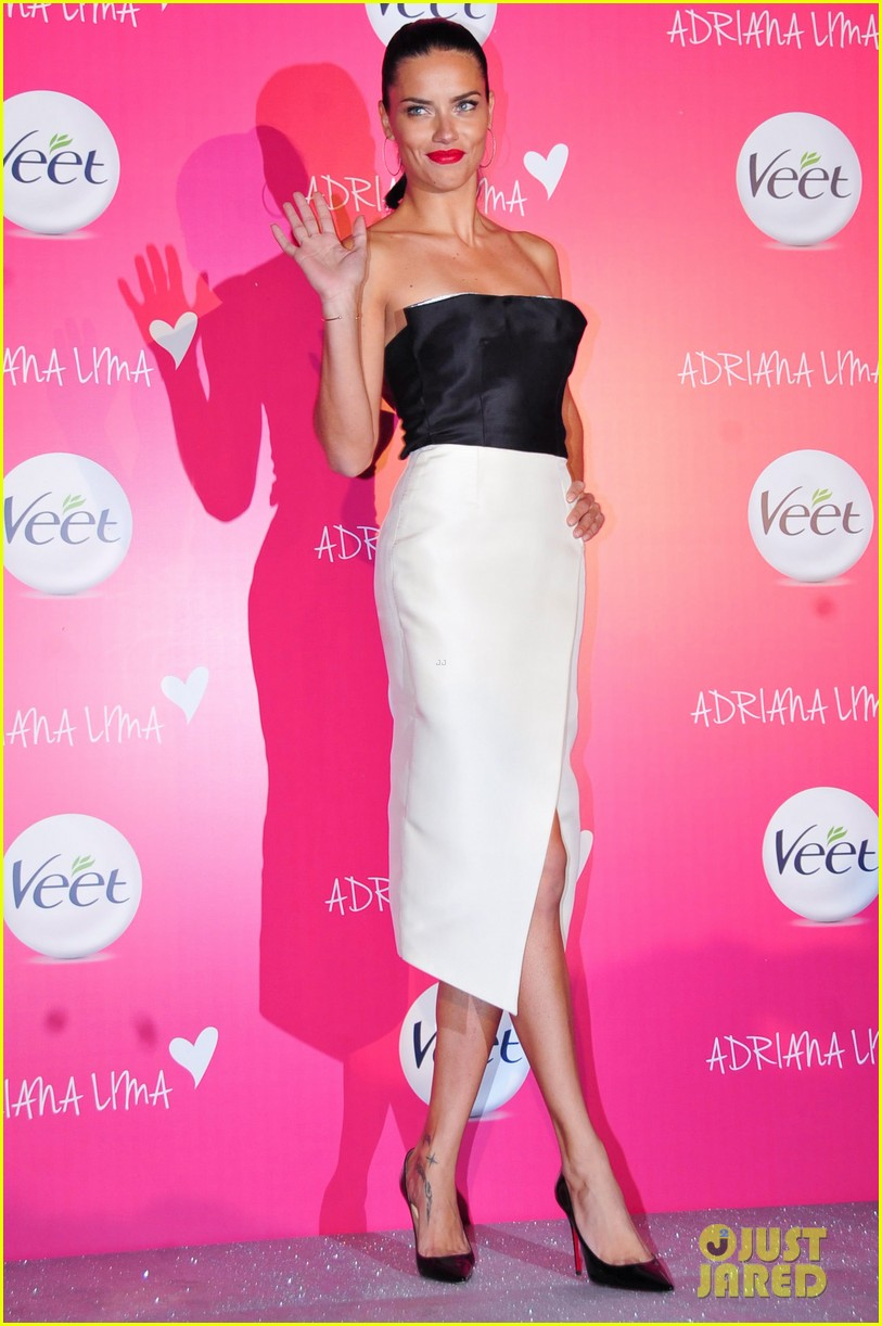 adriana lima drop dead gorgeous at veet launch 033086065