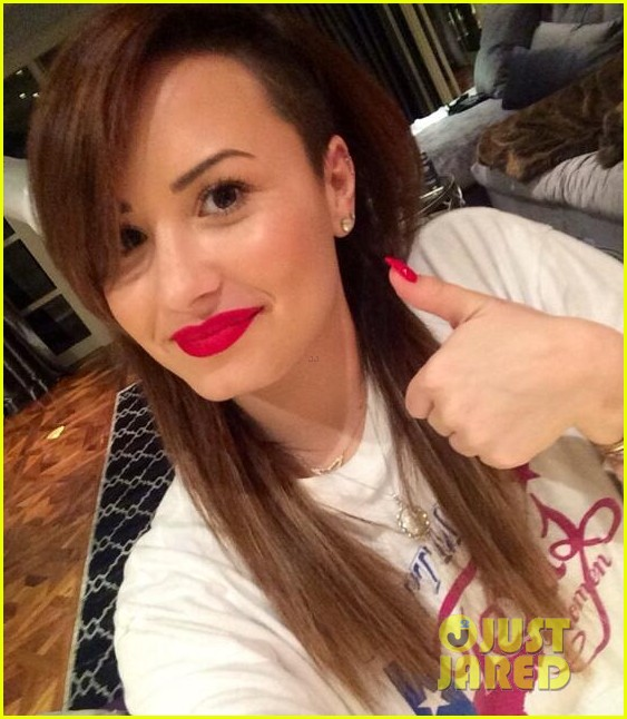 demi lovato is back to brunette after long stints in different colors 013088285