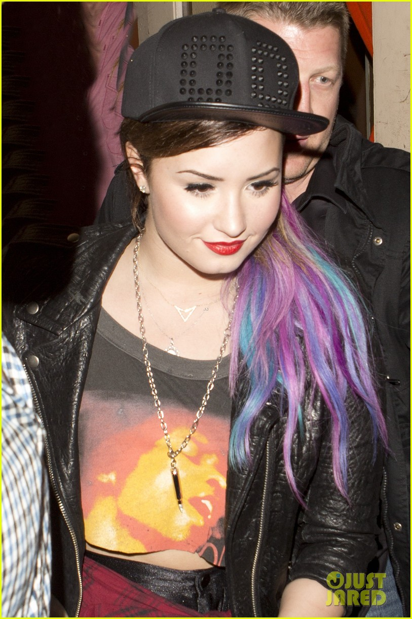 demi lovato colorful clip on hair extensions 043090743