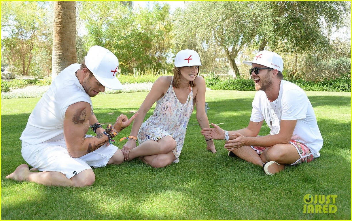 kellan lutz ashley greene show off beach bodies coachella pool party 253090181