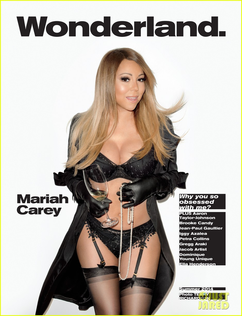 mariah carey is all decked out in lingerie for wonderland 013101633