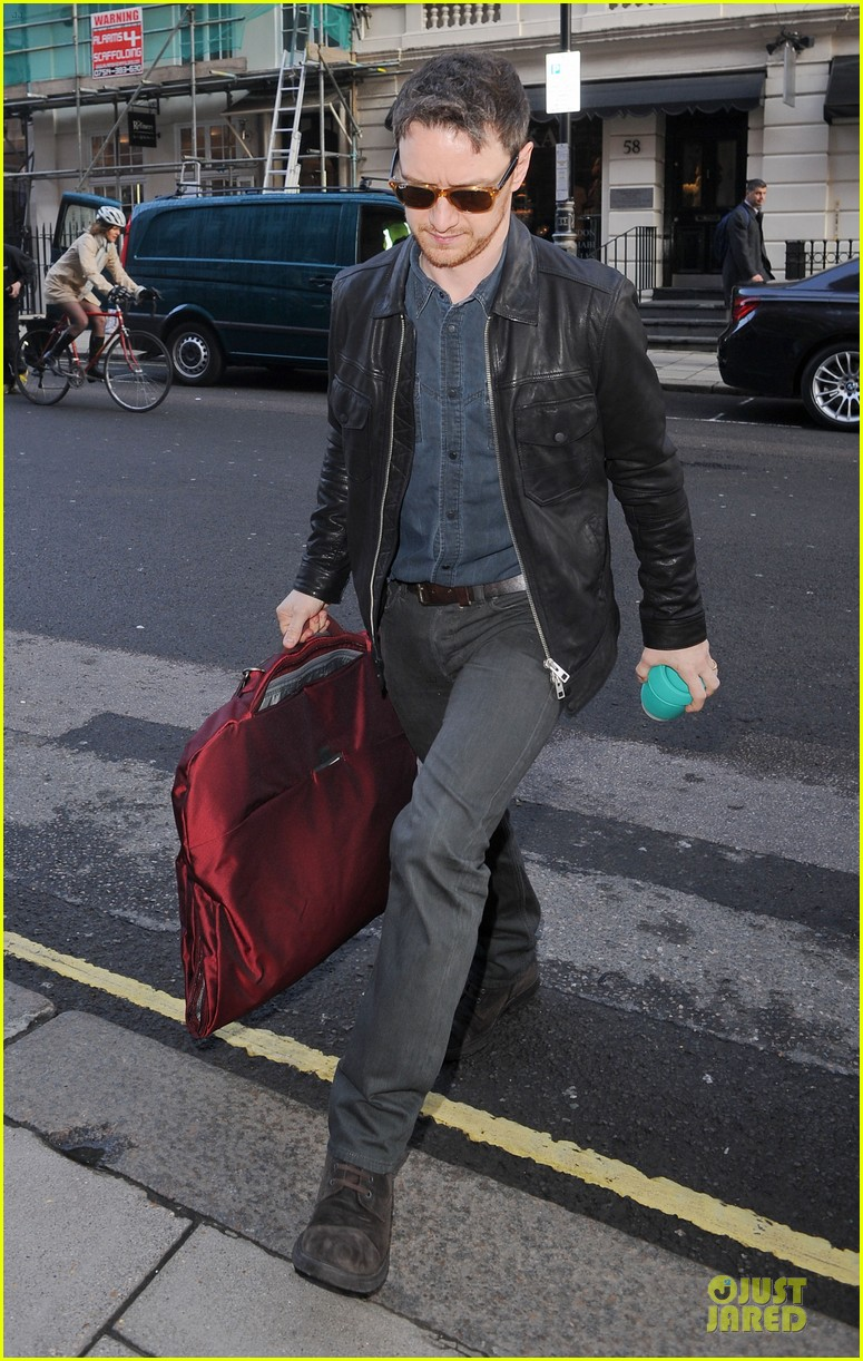 james mcavoy serious swagger in leather 01