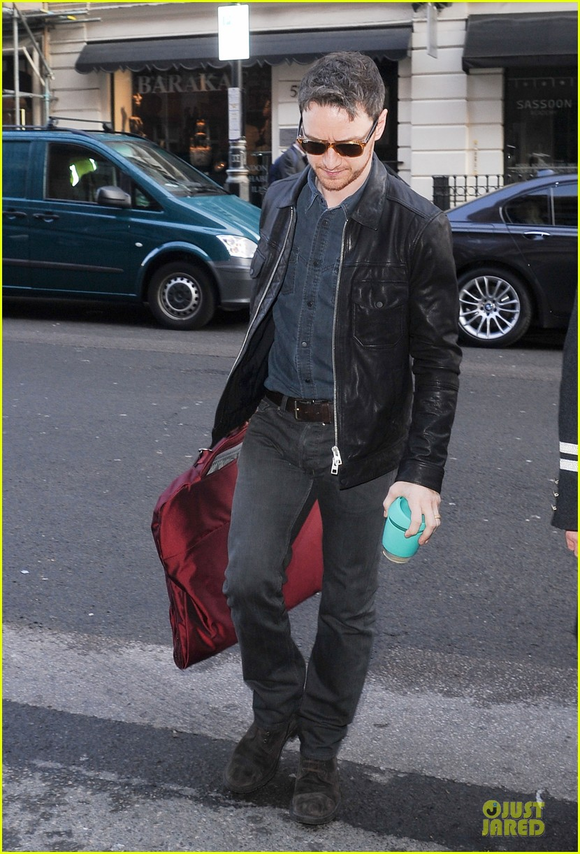james mcavoy serious swagger in leather 033083145