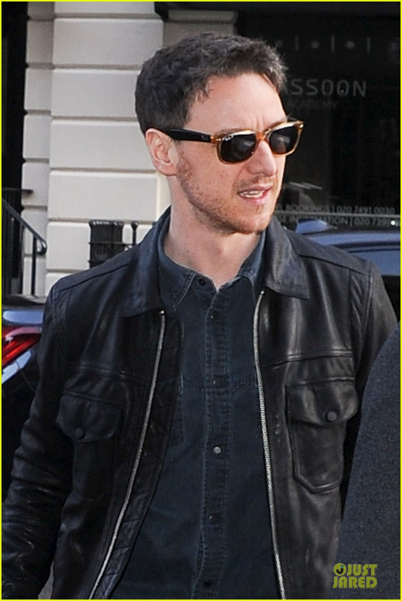james mcavoy serious swagger in leather 043083146