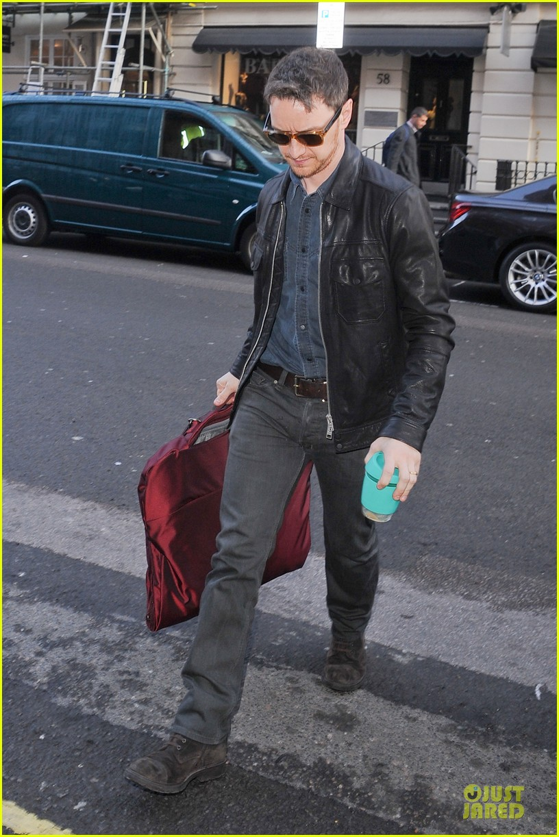 james mcavoy serious swagger in leather 053083147