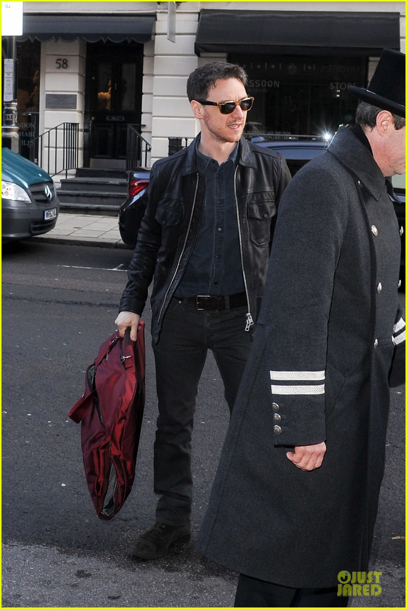 james mcavoy serious swagger in leather 063083148