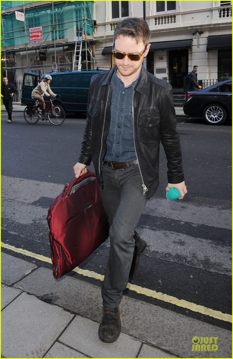 james mcavoy serious swagger in leather 07