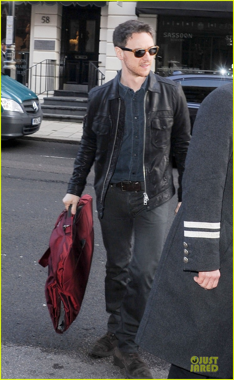 james mcavoy serious swagger in leather 083083150