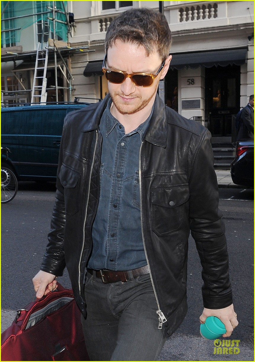 james mcavoy serious swagger in leather 093083151