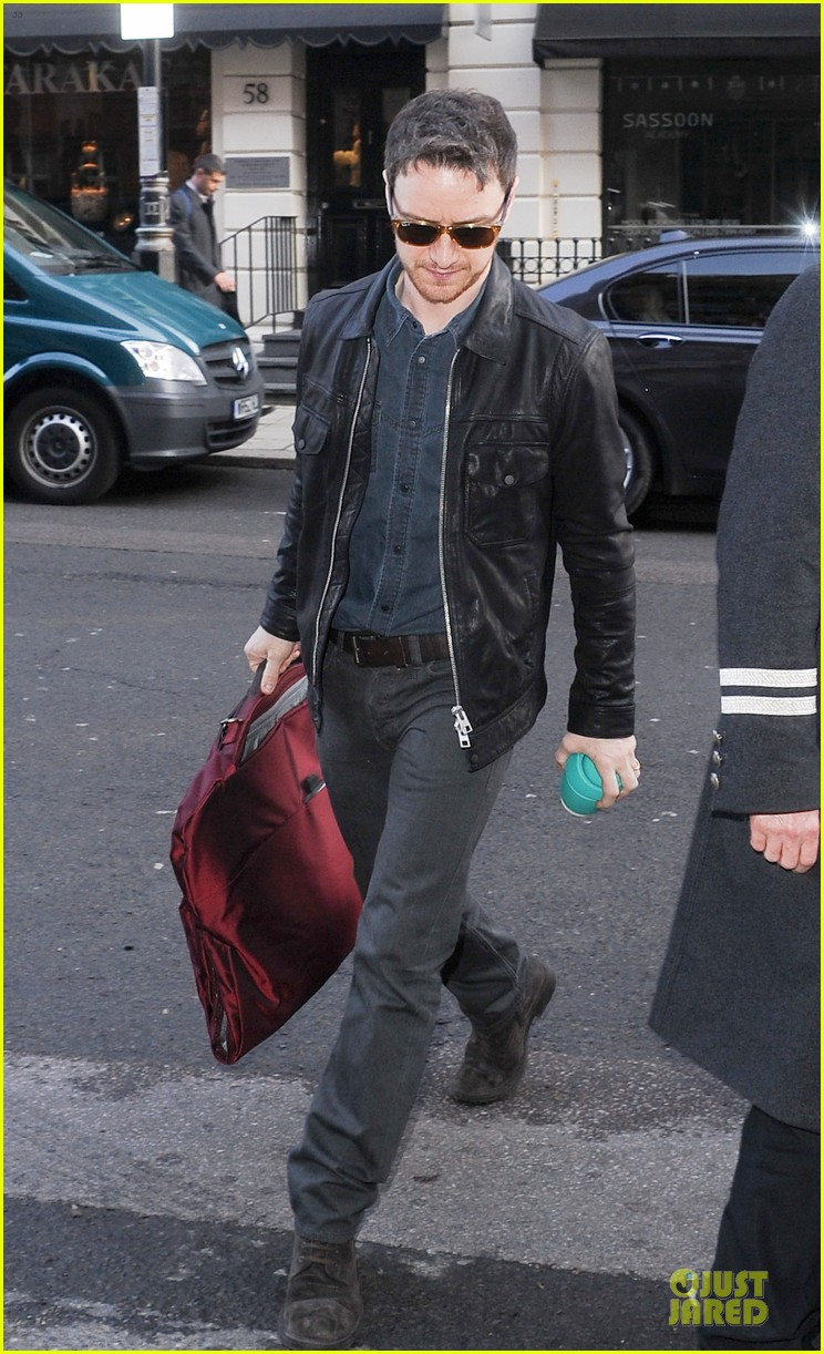 james mcavoy serious swagger in leather 103083152