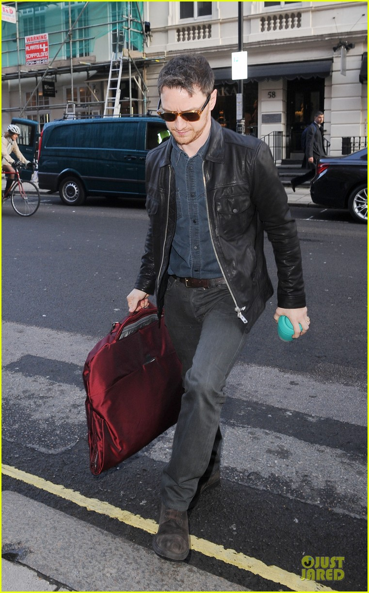 james mcavoy serious swagger in leather 113083153