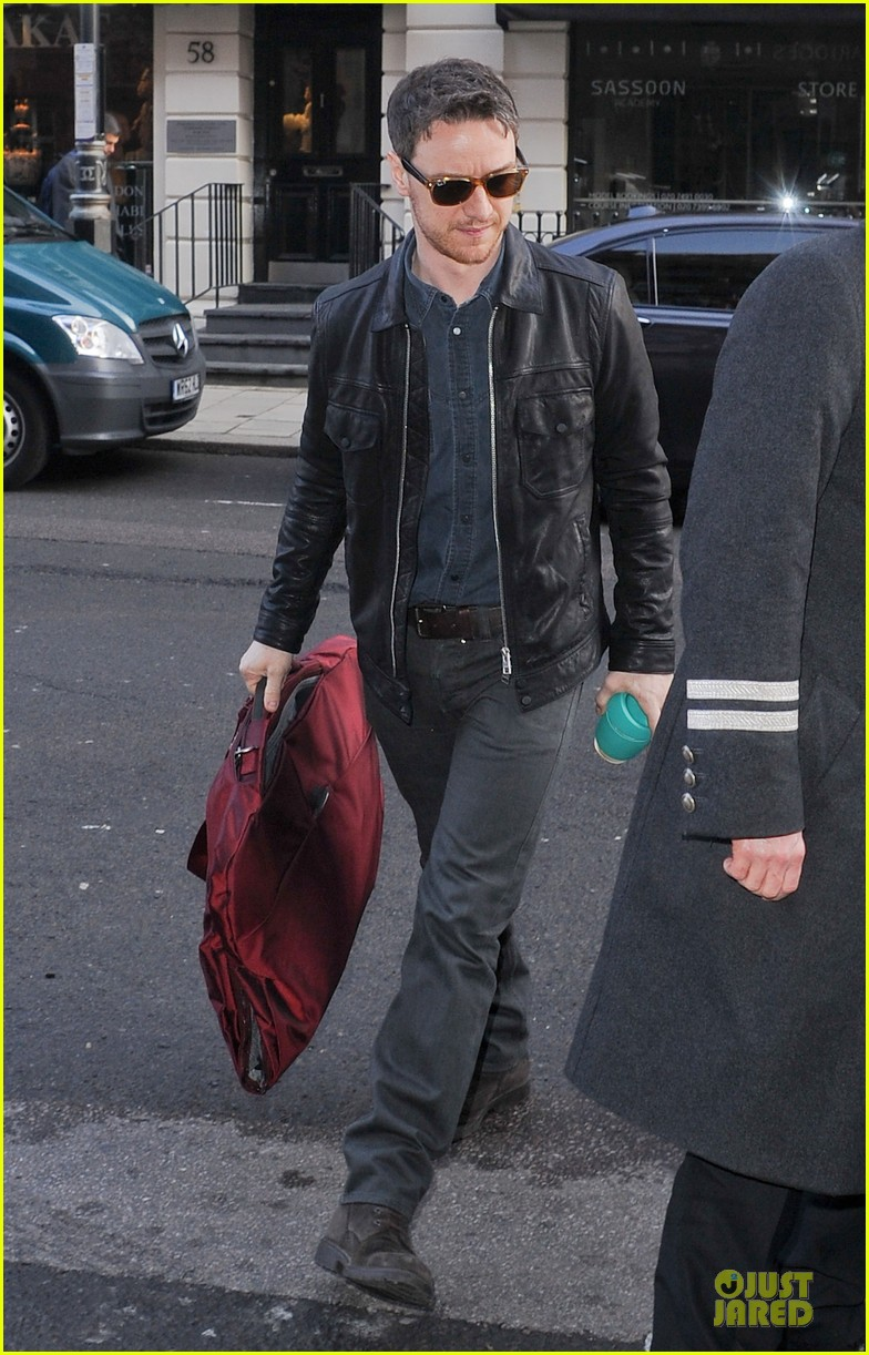 james mcavoy serious swagger in leather 123083154