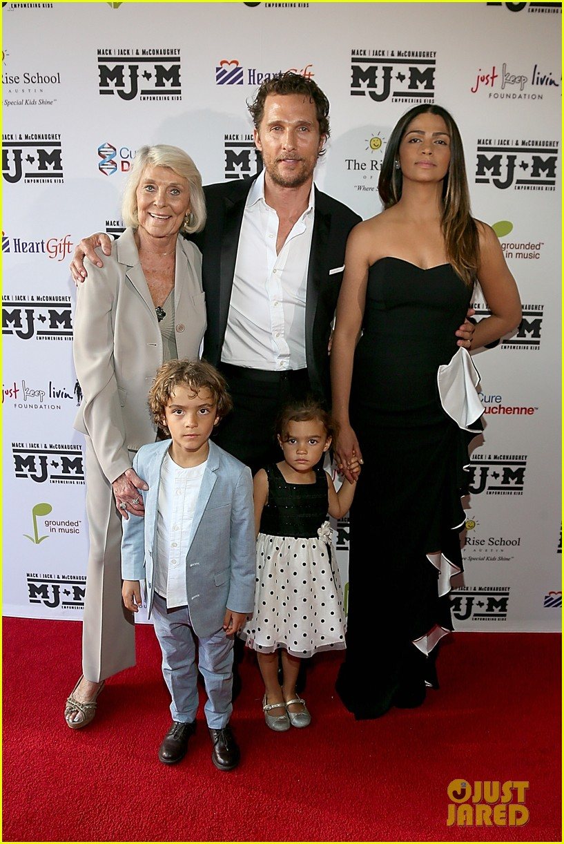 matthew mcconaughey brings the whole family to the mack jack mcconaughey gala 023098975