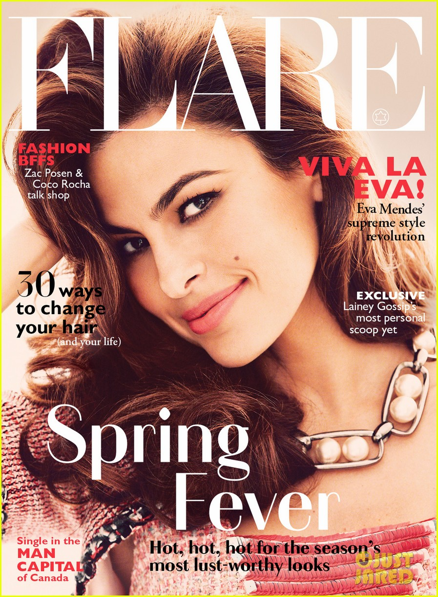 eva mendes covers flare magazine may 2014 023082896