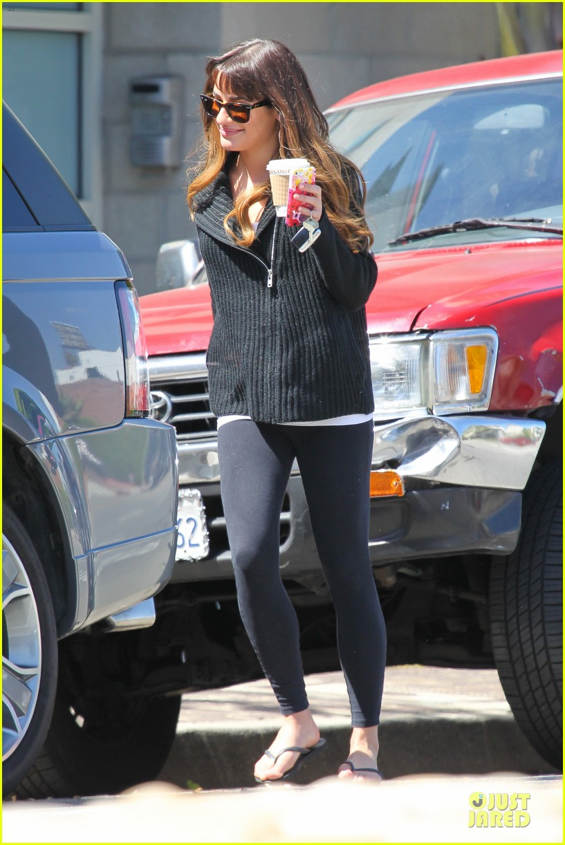 lea michele drinks coffee week 033082502