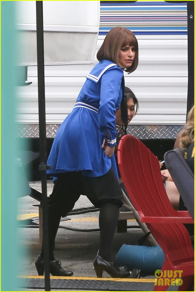 lea michele performs funny girl on stage 323088914