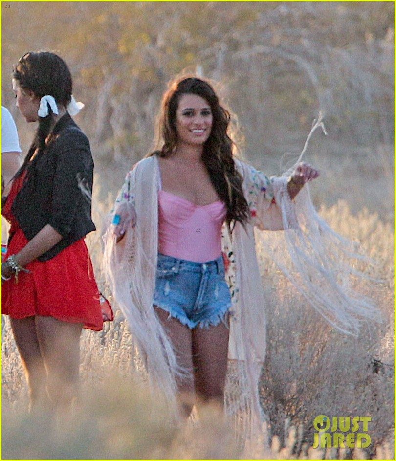 lea michele steps out after nip slip 053096150