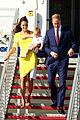 kate middleton changes into yellow dress to arrive in australia 06