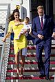 kate middleton changes into yellow dress to arrive in australia 21