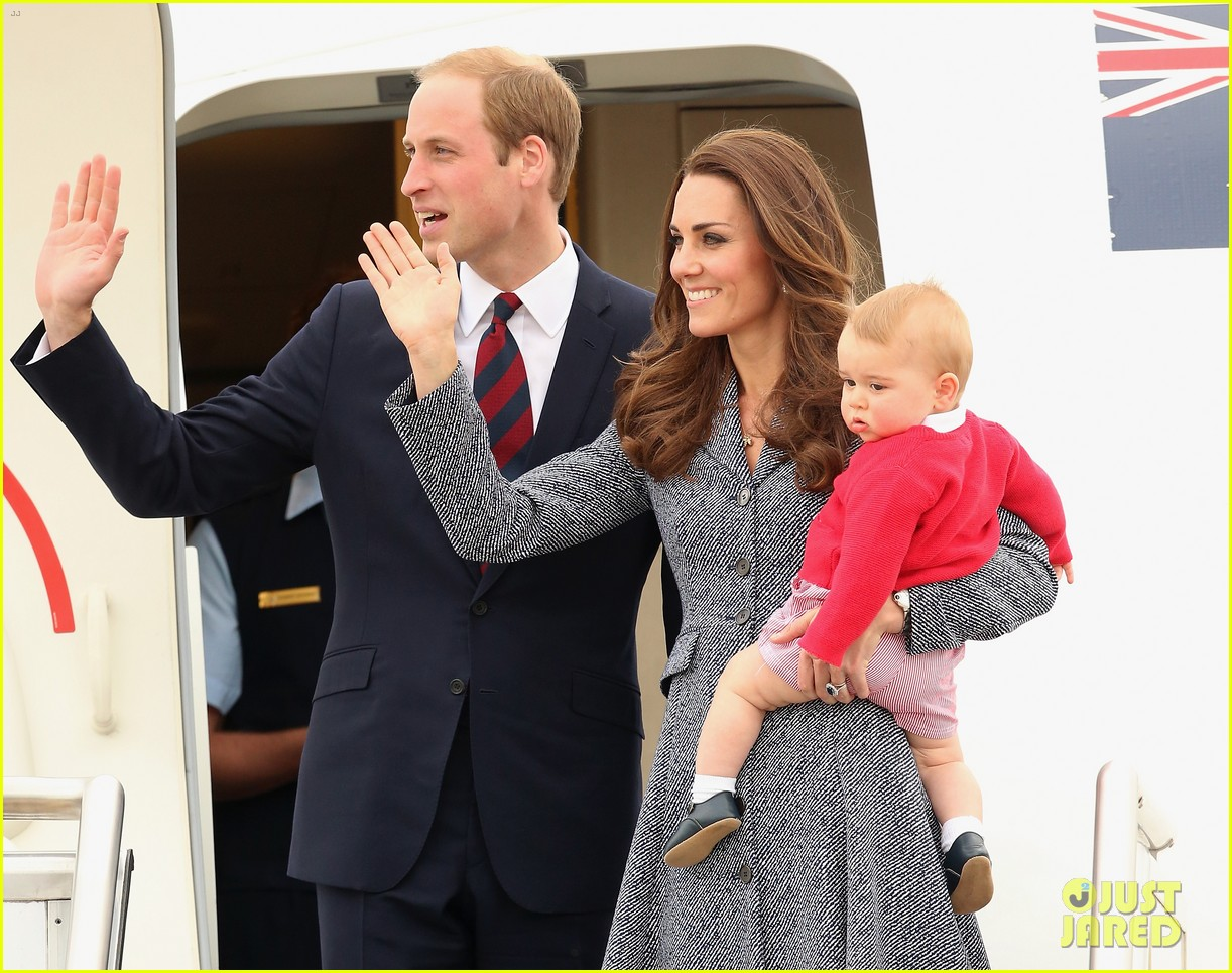 kate middleton prince william prince george say goodbye to australia 033098849