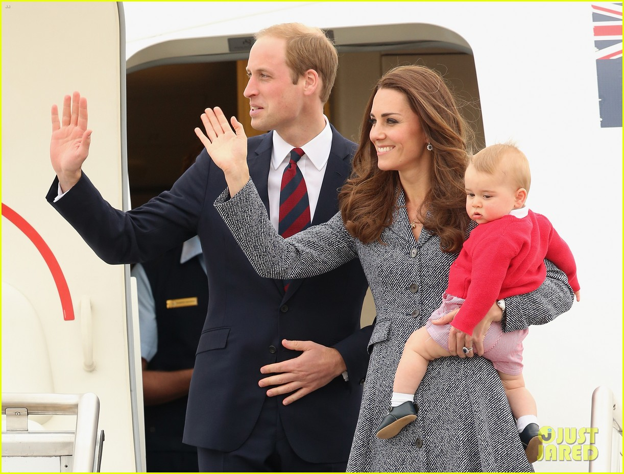 kate middleton prince william prince george say goodbye to australia 073098853