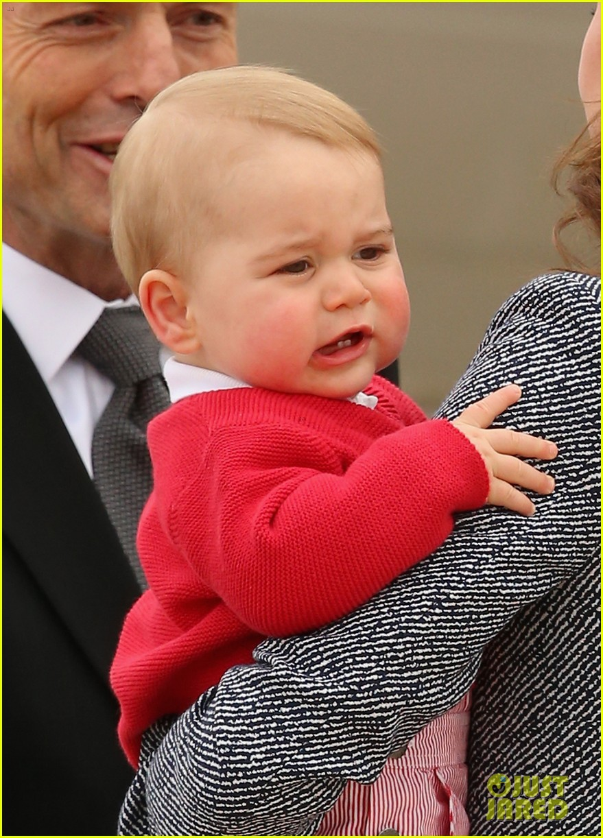 kate middleton prince william prince george say goodbye to australia 183098864