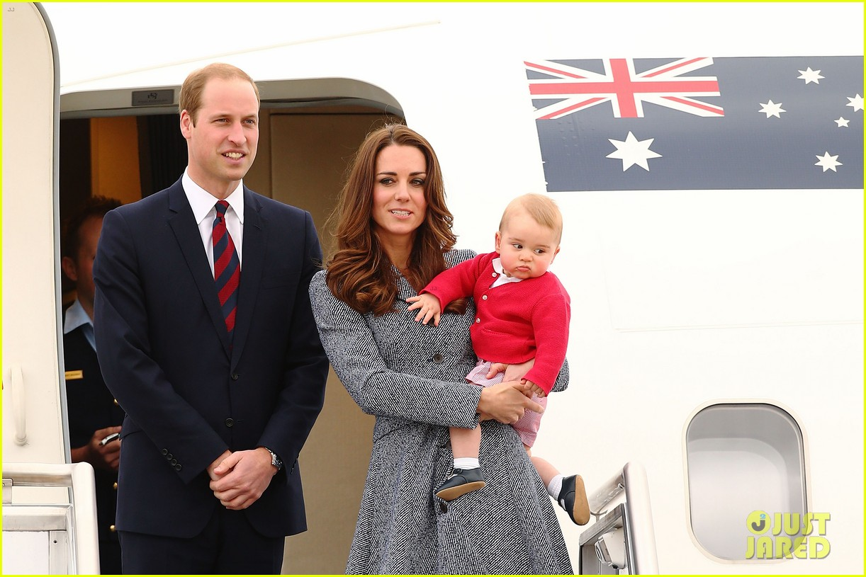 kate middleton prince william prince george say goodbye to australia 363098882
